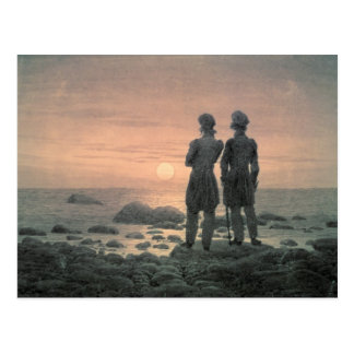 Two Men by The Sea Postcard
