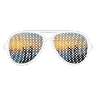 Two Men Fishing at Shore Aviator Sunglasses