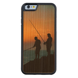 Two Men Fishing at Shore Carved Cherry iPhone 6 Bumper Case