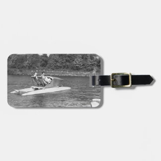 Two Men Luggage Tag