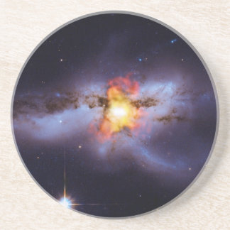 Two Merging Black Holes in Galaxy NGC 6240 Drink Coasters