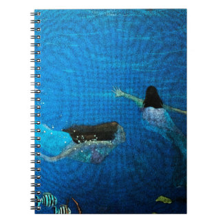 Two Mermaids Swimming Notebook