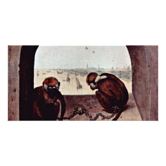 Two Monkeys By Bruegel D. Ä. Pieter (Best Quality) Personalized Photo Card