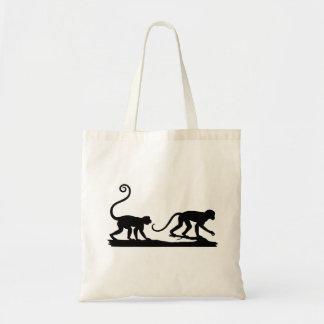 Two Monkeys Silhouettes Bag