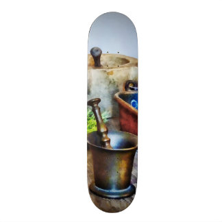 Two Mortar and Pestles in Kitchen 20 Cm Skateboard Deck