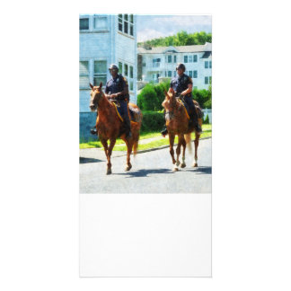 Two Mounted Police Photo Greeting Card
