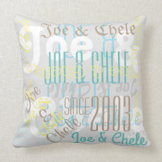 "Two Names Custom Polyester Throw Pillow 20"" x 20"""