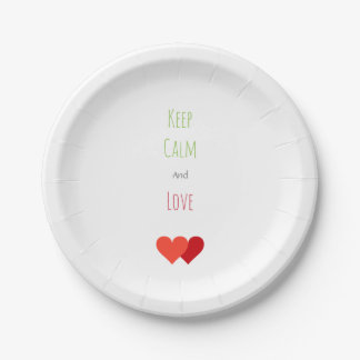 Two Network Hearts Paper Plate