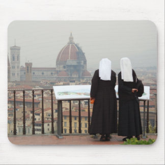 Two Nuns, Florence, Italy Mouse Pad