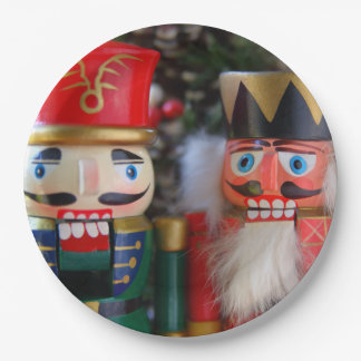 Two nutcrackers paper plate