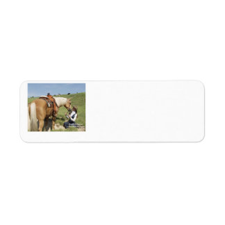 Two Of A Kind: Palomino & Cowgirl Return Address Label