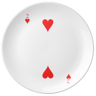 Two of Hearts Porcelain Plates