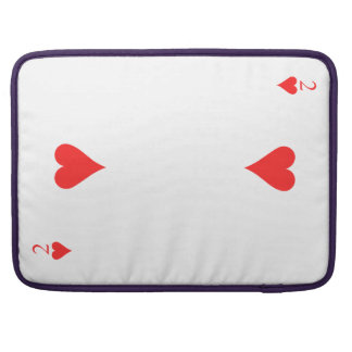 Two of Hearts Sleeve For MacBooks