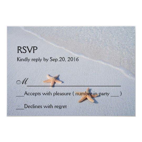 Two of Us | Ocean Love Starfish Response RSVP Card
