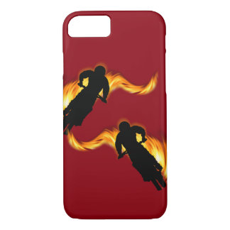 Two Off Road Dirt Bikes with Flames iPhone 8/7 Case