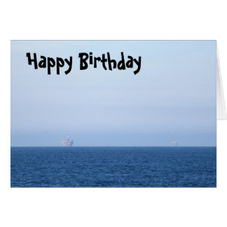 Two Oil Rigs Card