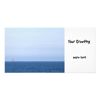 Two Oil Rigs Photo Card Template