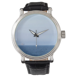 Two Oil Rigs Wristwatches