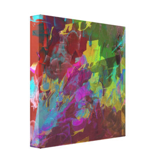 Two on One - Deep Mysterious Abstract Canvas Print