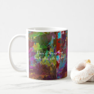 Two on One Vibrant Abstract Colors Coffee Mug