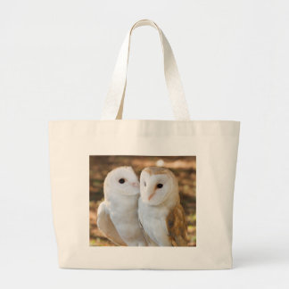 two owls friends large tote bag