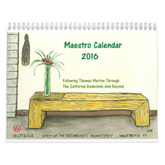 Two Page, Medium, White Calendar