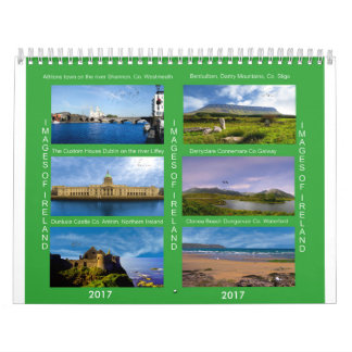 Two-Page-White-Calendar Wall Calendars