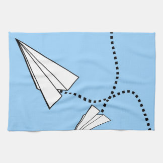 Two Paper Airplanes Hand Towels