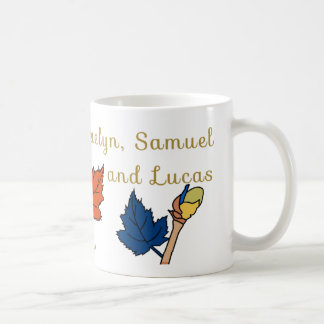 two parents, two kids, and a baby - personalized - coffee mug