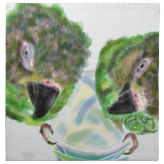 Two parrots napkin