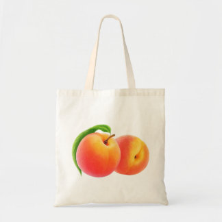Two peaches budget tote bag