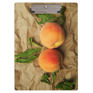 Two peaches. clipboard