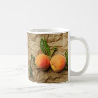 Two peaches. Conversation. Coffee Mug
