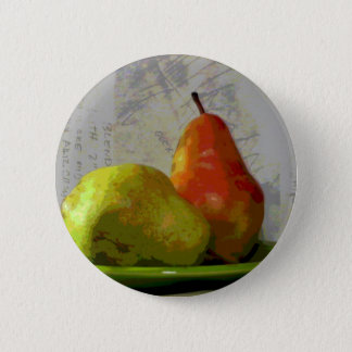 TWO PEARS 6 CM ROUND BADGE