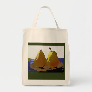 two pears grocery tote bag