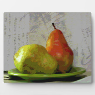 TWO PEARS PLAQUE