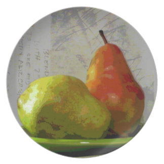 TWO PEARS PLATE