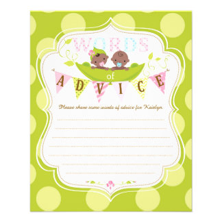 Two Peas in a Pod African Twins Advice Card 11.5 Cm X 14 Cm Flyer
