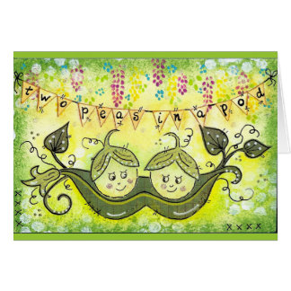 Two peas in a pod! card