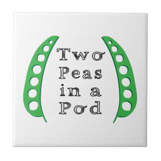 Two Peas in a Pod Ceramic Tile