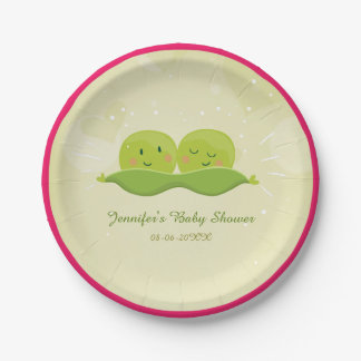 Two peas in a pod Paper Plates Baby Shower Twins