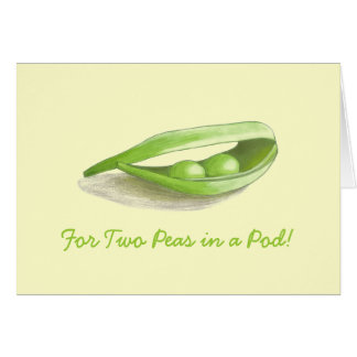 Two Peas in a Pod Wedding Card