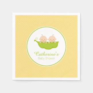Two Peas in Pod Baby Shower Paper Napkin