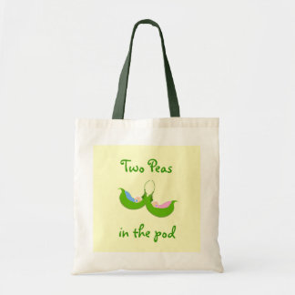 """""""Two Peas in the Pod"""" Tote Budget Tote Bag"""