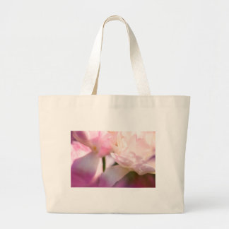 Two Peony Flowering Tulips with Petals Touching Large Tote Bag