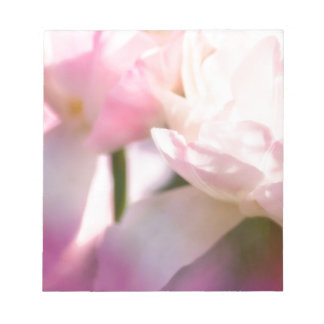 Two Peony Flowering Tulips with Petals Touching Notepad