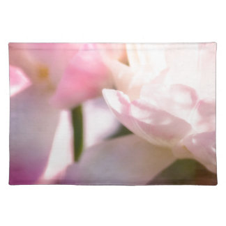 Two Peony Flowering Tulips with Petals Touching Placemat