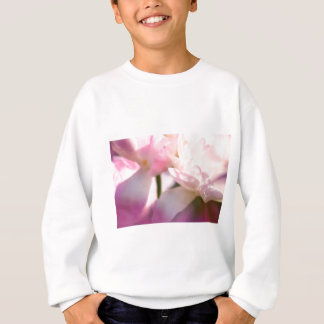 Two Peony Flowering Tulips with Petals Touching Sweatshirt
