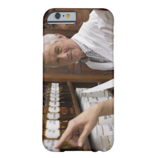 Two pharmacists in front of a shelf with tins barely there iPhone 6 case