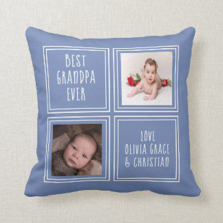 Two Photo Template Personalised One of a Kind Cushion